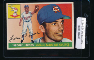 Scan of 1955 Topps 61 Forrest Jacobs VG-EX