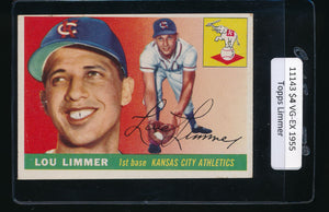 Scan of 1955 Topps 54 Lou Limmer VG-EX