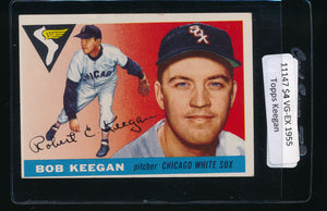 Scan of 1955 Topps 10 Bob Keegan VG-EX
