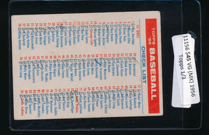 Scan of 1956 Topps CL1 Checklist 1/3 VG (MK)