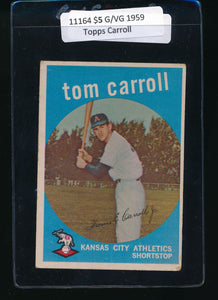 Scan of 1959 Topps 513 Tommy Carroll G/VG