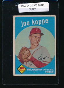 Scan of 1959 Topps 517 Joe Koppe G
