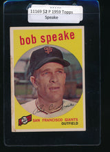 Load image into Gallery viewer, Scan of 1959 Topps 526 Bob Speake P