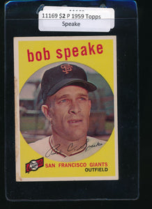 Scan of 1959 Topps 526 Bob Speake P
