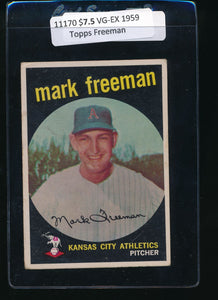 Scan of 1959 Topps 532 Mark Freeman VG-EX