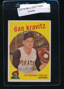 Scan of 1959 Topps 536 Danny Kravitz G