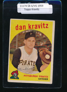 Scan of 1959 Topps 536 Danny Kravitz G/VG