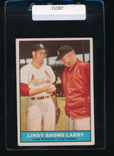 Load image into Gallery viewer, Scan of 1961 Topps 75 Lindy McDaniel, Larry Jackson VG-EX