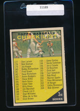Load image into Gallery viewer, Scan of 1961 Topps 189 Checklist 3  EX