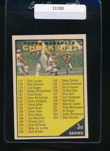 Scan of 1961 Topps 189 Checklist 3  EX