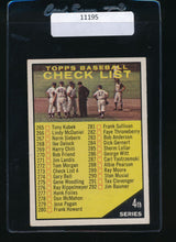 Load image into Gallery viewer, Scan of 1961 Topps 273 Checklist 4  EX