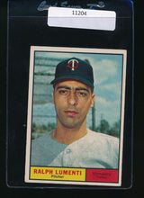 Load image into Gallery viewer, Scan of 1961 Topps 469 Ralph Lumenti VG-EX