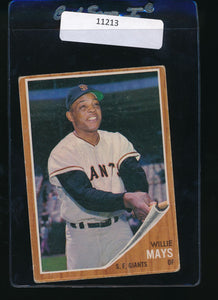 Scan of 1962 Topps 300  Willie Mays VG