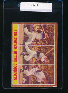 Scan of 1962 Topps 318  Mickey Mantle IA VG-EX