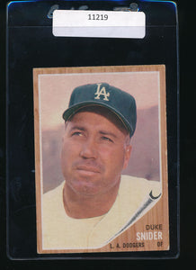 Scan of 1962 Topps 500  Duke Snider EX