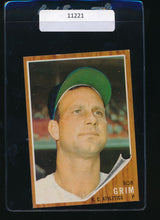 Load image into Gallery viewer, Scan of 1962 Topps 564  Bob Grim EX-MT