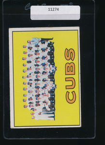 Scan of 1967 Topps 354 Chicago Cubs EX