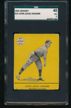 Load image into Gallery viewer, Scan of 1941 Goudey 14 John Jack Kramer SGC 40/3 VG