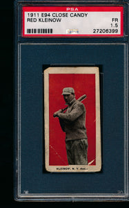 Scan of 1911 e94 Close Candy  Red Kleinow PSA 1.5 Fair