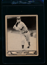 Load image into Gallery viewer, Scan of 1940 Play Ball 26 Wally Moses  VG