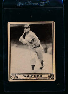 Scan of 1940 Play Ball 26 Wally Moses  VG