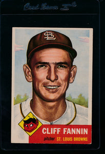 Scan of 1953 Topps 203 Cliff Fannin VG