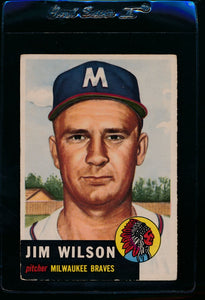 Scan of 1953 Topps 208 Jim Wilson VG-EX
