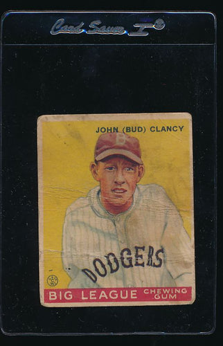 Scan of 1933 Goudey 32  Bud Clancy P
