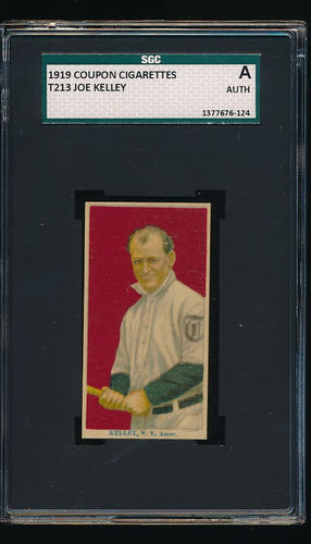 Scan of 1919 T213 Coupon  Joe Kelly SGC Authentic