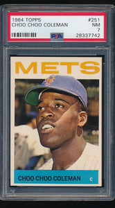 Scan of 1964 Topps 251  Choo Choo Coleman PSA 7 NM