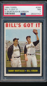 Scan of 1964 Topps 268  Bill's Got It PSA 7 NM