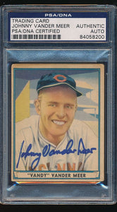 Scan of 1941 Play Ball 56  Johnny Vander Meer PSA/DNA Authentic