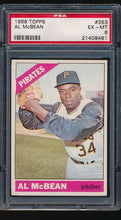 Load image into Gallery viewer, Scan of 1966 Topps 353  Al McBean PSA 6 EX-MT