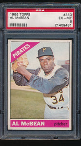 Scan of 1966 Topps 353  Al McBean PSA 6 EX-MT
