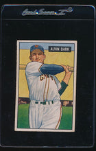 Load image into Gallery viewer, Scan of 1951 Bowman 14  Alvin Dark  VG