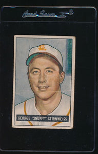 Scan of 1951 Bowman 21  George Stir  G