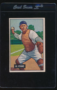 Scan of 1951 Bowman 38  Al Evans  VG-EX