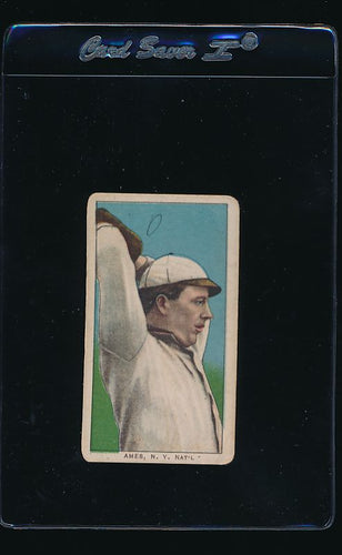 Scan of 1909 t206 Sweet Caporal  Red Ames G (MK)