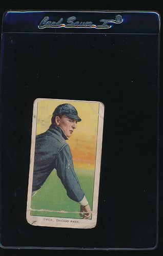 Scan of 1909 t206 Sweet Caporal   Frank Owen P