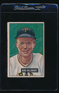 Scan of 1951 Bowman 63 Bob Dillinger G