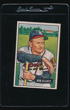 Load image into Gallery viewer, Scan of 1951 Bowman 66 Bob Elliott G