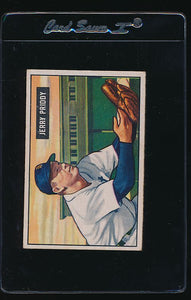 Scan of 1951 Bowman 71 Jerry Priddy VG-EX