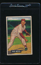 Load image into Gallery viewer, Scan of 1951 Bowman 75 Russ Meyer G