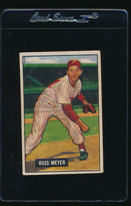 Scan of 1951 Bowman 75 Russ Meyer G