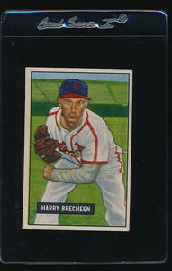 Scan of 1951 Bowman 86 Harry Brecheen EX