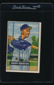Scan of 1951 Bowman 95 Sherry Robertson VG-EX
