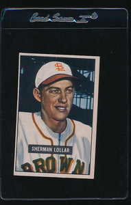 Scan of 1951 Bowman 100 Sherman Lollar EX