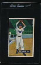 Load image into Gallery viewer, Scan of 1951 Bowman 118 Preacher Roe EX