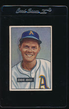 Load image into Gallery viewer, Scan of 1951 Bowman 119 Eddie Joost VG
