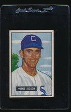 Load image into Gallery viewer, Scan of 1951 Bowman 123 Howie Judson VG